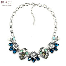 2017 fashion necklace J C Unique costume collar bib bubble chunky choker crystal pendant Necklaces statement jewelry women