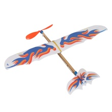 DIY Plastic Foam Elastic Rubber Powered Flying Plane Kit Aircraft Model Educational Toy Best Chirsmas Gift For Children S2(China)