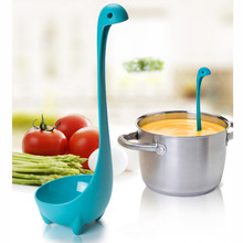 2016 New Spoons Loch Ness Monster Cartoon Kitchen Plastic Spoon Long Handled Spoon Soup Tableware Dinnerware Cooking Tools