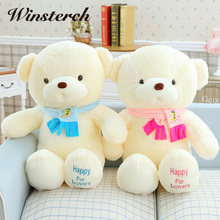 Lovely Teddy Bear with scarf Cushion Pillow Toy Soft kids dolls &stuffed Toy girls Plush Dolls Animals Toys Holiday Gifts WW185