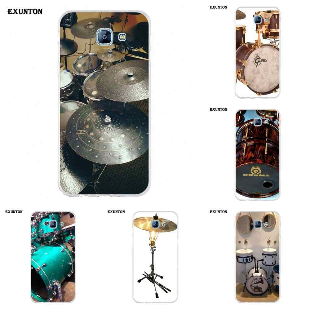 Мягкие чехлы Cymbal Drums Music для Galaxy Alpha Core Note 2 3 4 S2 A10 A20 A20E A30 A40 A50 A60 A70 M10 M20 M30