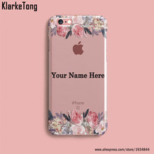 DIY Name Custom Design Print Case Cover For iPhone 6 6s 5 5s SE 7 7Plus Flower City Customized Soft Silicone TPU Coque Capa
