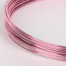 Lovely Pink Painted Round Aluminum Soft Metal Wire DIY Craft Jewelry Making 1/1.5/2/2.5mm,Sold By Per Lot Of 1 Roll (10/5/3m)