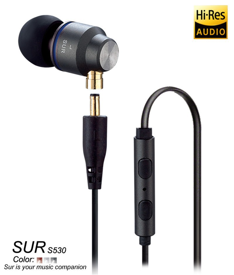 Original In Ear Earphone JBMMJ SUR S530 Metal In-ear Headphone Auriculars Separable cable Remote control With Mic<br>