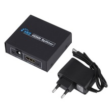 New 1080P 2 Ports HDMI Splitter 1.4 HDMI Splitter 3D EU Plug 1 x 2 HDMI Splitter 5V Power Supply 1 In 2 Out Switcher For HDTV