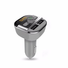 Auto FM Transmitter Car MP3 Audio Player Bluetooth  FM Modulator Car Kit HandsFree Music Player Dual USB Charger