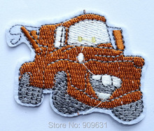 Free shipping  Engerneering Tow Truck  Embroidery Iron on patch Clothes Car Mater Cars Route 66  working title