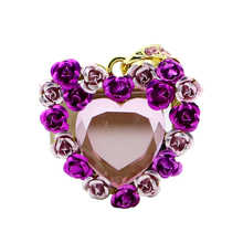 heart shaped jewelry 4gb 8gb 16gb 32gb 64gb memory stick pen drive pendrive necklace usb flash drive(China)