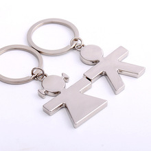 Couple Key Chain Love Metal Keychain Cartoon Key chain Lovers Key ring Women Wedding Jewelry Accessory Valentines Gift 17282(China)