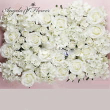 DIY artificial rose flower heads silk decorative flower hotel background wall decor 25pcs DIY Road led wedding flower Bouquet