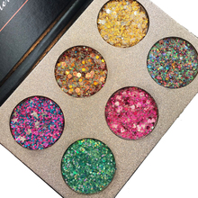 New beauty glazed Brand Eye Shadow Makeup Waterproof Long Lasting Gold Pink Green Glitter Eyeshadow Palette(China)