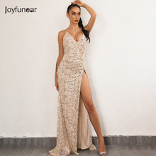 Buy Evening Party Club Elegant Dress 2017 Women Dress Vestidos De Festa Womens Sexy Dresses Gold Sequined Long Evening Maxi Dress for $25.00 in AliExpress store
