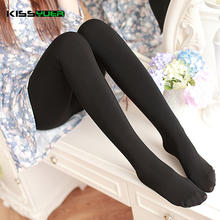 KISSyuer 2017 Fashion tights winter tights compression Pantyhose seamless 160 thick velvet 130g thin sexy Hose stocking KS049
