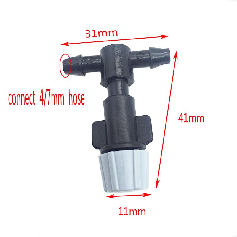 HTB1r9wVSXXXXXaLXXXXq6xXFXXXs - 1 Sets Fog Nozzles irrigation system - Automatic Watering 10m Garden hose Spray head with 4/7mm tee and connector