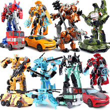 Hot! 10 Styles Transformation 4 Car Action FigureToys PVC  Robot Brinquedos Car Robot Classic Model Gift Toy for Kids Adults