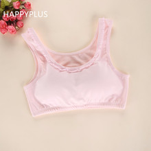 2017 New Arrival Girl's Pink/White Cotton Comfortable & Breathable Training Bras, Children Good Quality Camisole Underwear(China)