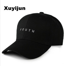 2017 Unisex Embroidery Youth Letter Baseball Cap Boys Girls Snapback Hip Hop Flat Hat Black White Hot Pink men woman youth hat