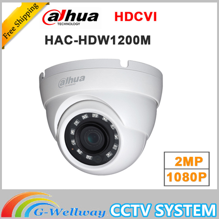 Wholesale english version dahua 2MP 1080P HDCVI HAC-HDW1200M HDCVI IR Eyeball Camera Smart DH-HAC-HDW1200M<br>
