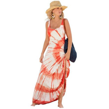 Hot Sale Women Clothing Summer Dress 2017 Women Gown Boho O Neck Sleeveless Hippie Dress Clothes for Full Women Gown Fiesta(China)