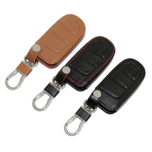 Leather Car Smart Key Cover Fit For Jeep Grand Cherokee Dodge JCUV Dart Journey Chrysler 300C Car Styling