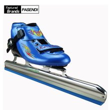 PASENDI Professional Roller Skates Shoes Women Red ice hockey skates ice Skating for Kids Ice Blade Patines Rollers Skating(China)