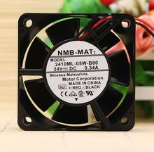 NMB 2410ML-05W-B80 6025 24V 0.34A 2 wire large air volume inverter, cooling fan