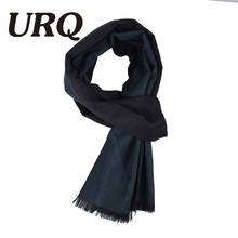 [URQ] Newest Design Brand AB Sides Man winter Scarves Solid color Smooth Soft Long Man Acrylic Blend Scarf A3A18892(China)