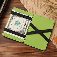 Front Pocket Luxury Brand Men Magic Wallet Purse Hold Bill Female Male Slim Clamp For Money Clip Holder Dollar Cash Credit Card