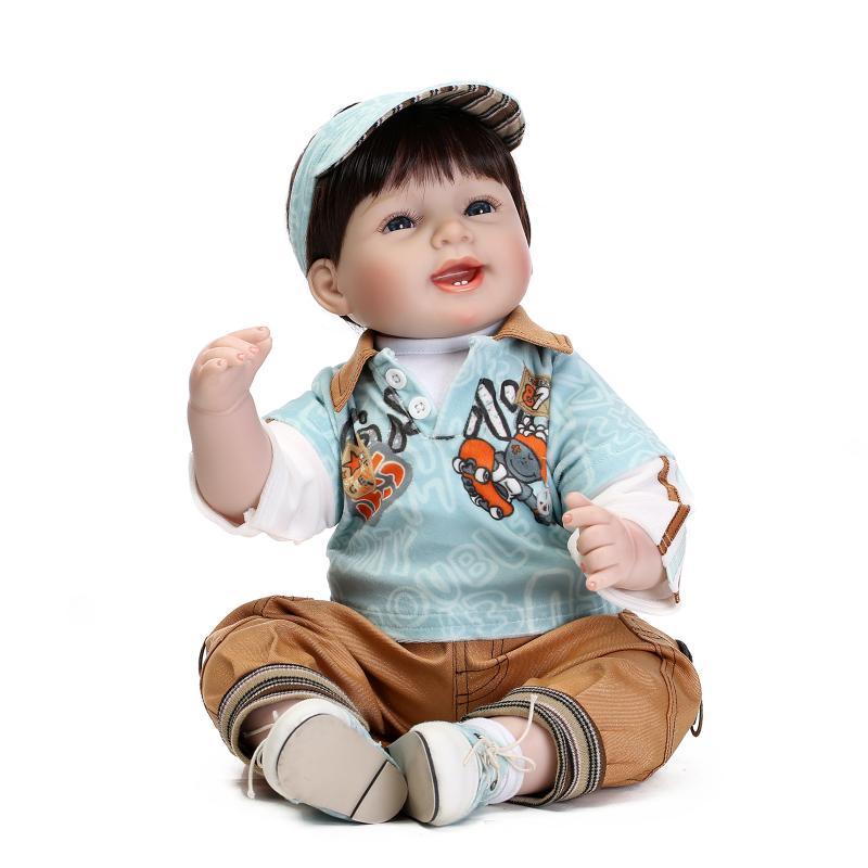 22inch Soft Silicone Reborn Dolls Toys 55cm Cool Boy Baby Doll Lifelike Newborn Baby Brinquedos Juguetes For Baby Birthday Gift<br><br>Aliexpress
