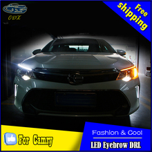 Car Styling LED DRL for Camry V55 2014-2016 New Camry Eye Brow Light LED External Lamp Signal Parking Accessories