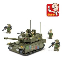 Sluban M38-B0305 344pcs Small Army Makava Tank 3D Model Construction figures Military Building Toys Blocks Figures(China)