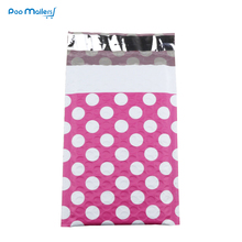 10pcs 120*180mm Creative Design Poly Bubble Mailers 4x7 Inches Padded Envelopes Pink Dot