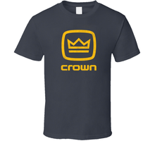 Crown, T-shirt, Audio, Stereo, Amp, Receiver, System, Music, Logo(China)