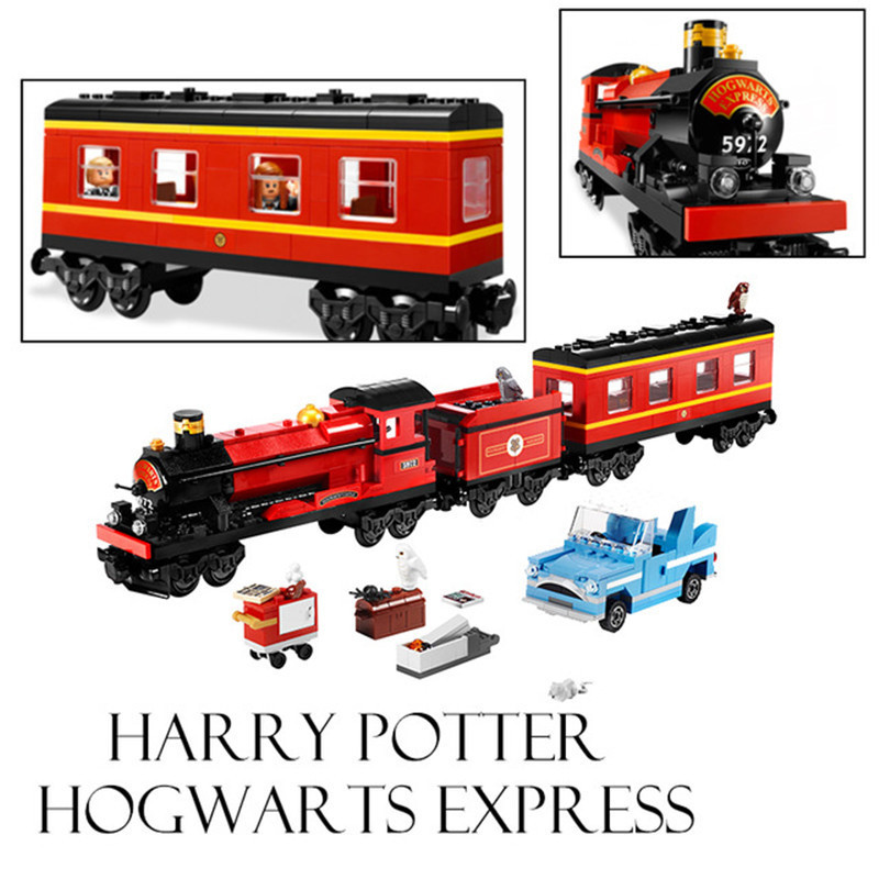724pcs Lepin Movie Series Hogwarts Express Train Set Diy Building Block Toy Bricks Compatible With Legoingly Childrens Gifts <br>