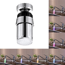 Digital Shower Faucet 2.4x5.8cm 1 PC Stainless Steel Kitchen Sink Waterfall Faucet 7 Colors LED Glow Taps Light Wholesale 30M26