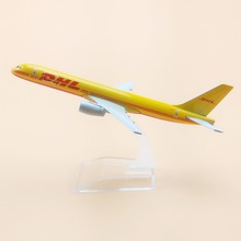 Air DHL Airlines Boeing 757 B757 Airways Plane Model Aircraft 16cm Alloy Metal Air Airplane Model w Stand Crafts Gift(China)