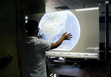 "NEW! 22"" Dark Gray and Gray and White and holographic Rear transparent projection film 3d hologram display"
