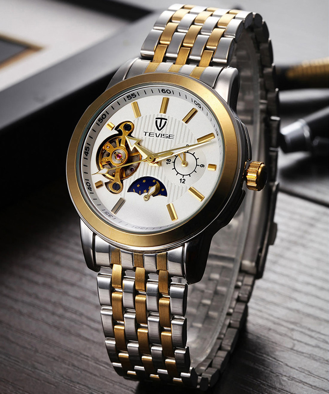 Quartz Watch Men 2018 Top Brand Luxury Famous Male WristWatch steel Watchband luxury Style business watch Relogio Masculino new <br>