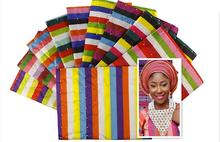 Excellent royal blue sego headtie African head tie,super jubilee Nigeria Gele,top quality african head wrap , 2pcs/pack
