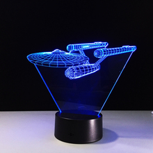 Star Trek battleship 3D touch remote control LED lamp lights LED Bulbing Night Light Table Lamp Gadget Nightlight