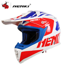 NENKI Men's Motocross Helmet Off Road Professional Rally Racing Helmets Men Motorcycle Helmet Full Face Racing Helmet