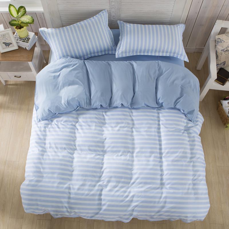 大人の寝具セット簡単なスタイルストライプ布団カバーセットベッドリネン寝具3または4ピース/セットベッド綿セット掛け布団カバーベッドカバー無印良