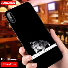 JURCHEN Phone Case iPhone 6 6S 8 7 Plus X XS Silicon Cute Soft Back Cover iPhone 6Plus 7Plus 8Plus 7 8 Plus X S 6 Cases