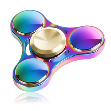 2017 Fidget Spinner Hand Spinner High Speed R188 Bearing Titanium Alloy Toys Anxiety Stress Adults Kid Metal Finger Spinners