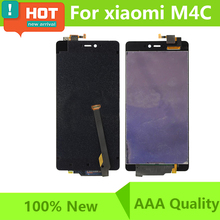 For Xiaomi Mi4C M4C LCD Display Touch Sreen Digitizer Assembly For Xiaomi Mi 4C LCD 100% Tested Screen Free Shipping(China)