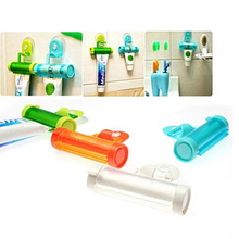 1 Piece Creative Rolling Squeezer Toothpaste Dispenser Tube Partner Sucker Hanging Holder  E2shopping