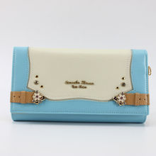 2017 New hello kitty Genuine leather women wallets Cartoon female Famous brand standard wallet male clutch four colors