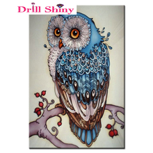 5D DIY Diamond Owl All Diammond Pet Embroidery 3D Cross Stitch Kit New Listing Sewing Card