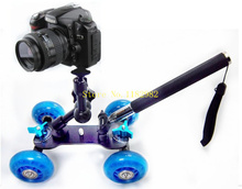 3in1 1set  Camera Rail Car Table Dolly Car  +  Phone Handheld monopod Tripod + 11 inch magic arm For d1000 d3000 d3100 d3200