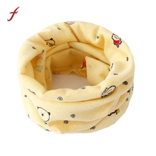 Baby Cotton Neck Scarf Cute O Ring Scarfs Print Children Warm Kids Collars Autumn Winter Boys Girls Scarves cartoon Accessories